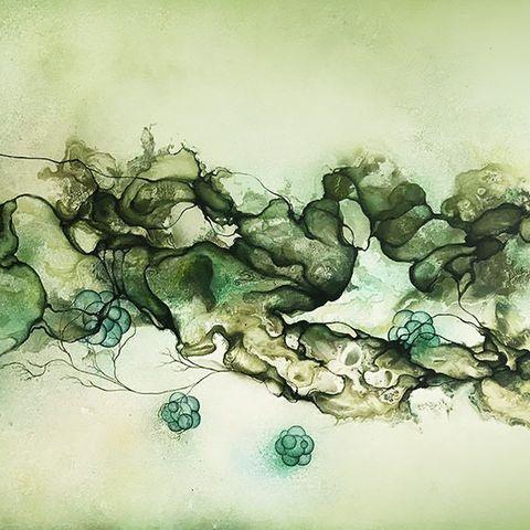 90863b56 Malerier 110x180 cm. - Moderne kunst af Rikke Darling